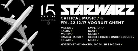 Star Warz presents 15 Years Of Critical Music | Vooruit - 22/12/2017