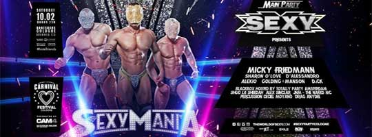 SEXY Mania - Main Party Carnival Festival Cologne 2018 | Bootshaus - 10/02/2018