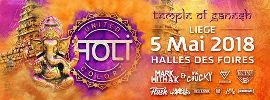 UNITED HOLI COLORZ | Hall des Foires - 05/05/2018