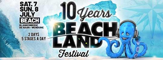 Beachland Festival 2018 10th Anniversary | BEACH BLANKENBERGE - 07/07/2018