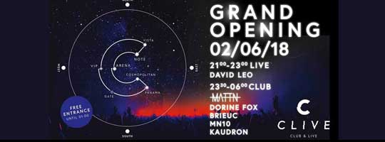 CLIVE Club Grand Opening | Clive - 02/06/2018
