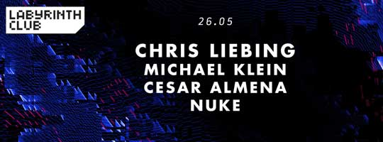Chris Liebing and Michael Klein. Labyrinth invites Code Madrid | Labyrinth Club - 26/05/2018