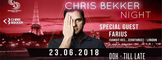 Chris Bekker Night   GIBUS CLUB Paris - 23/06/2018