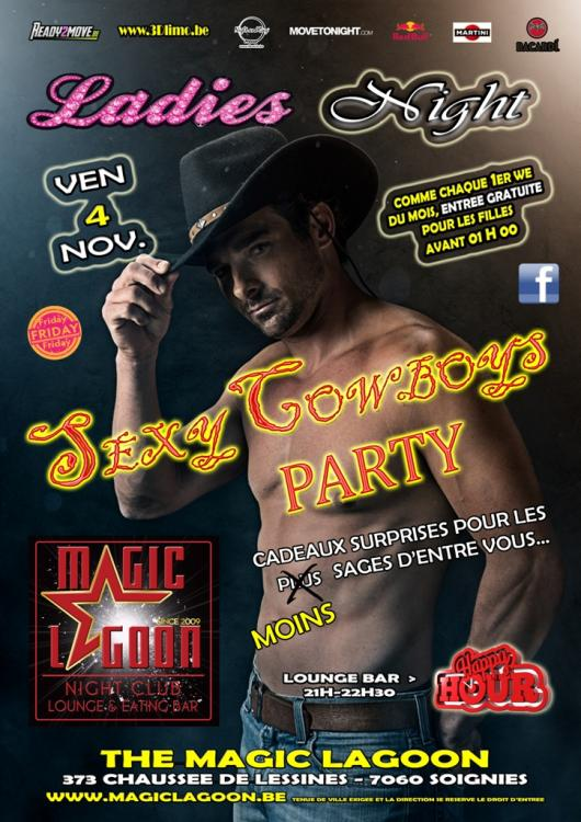 84356d323 Ladies Night   Sexy Cowboys Party - Friday 04 11 2016
