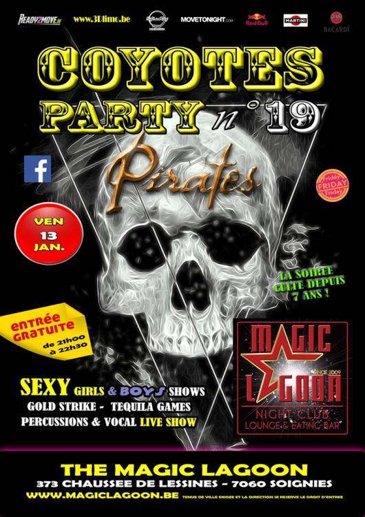 La soirée culte - Coyotes Party # 18 - Pirates - 13/01/2017 | The Magic Lagoon