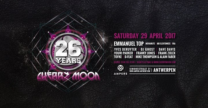 Cherry Moon : 26 Years Cherry Moon - 29/04/2017