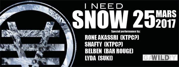 3VENT : I NEED SNOW - 25/03/2017