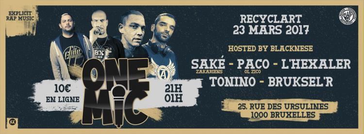 ONE MIC 'SAKE - PACO - L'HEXALER - TONINO' - 23/03/2017 | RECYCLART