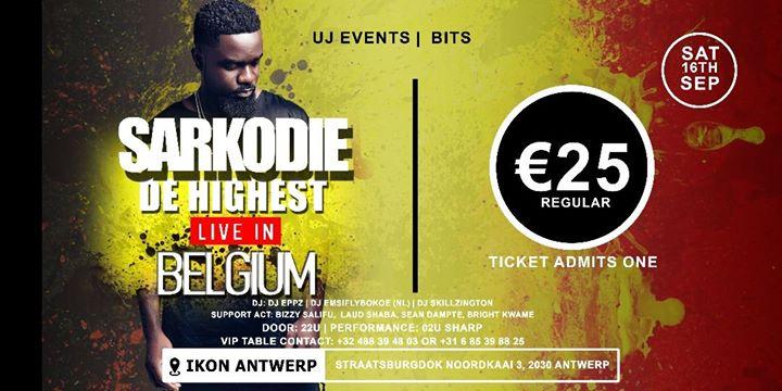 Sarkodie LIVE IN Belgium - 16/09/2017   IKON