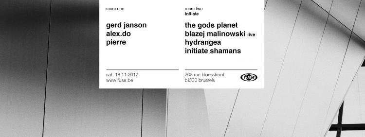 Fuse presents: Gerd Janson, Alex.do — The Gods Planet - 18/11/2017 | Fuse
