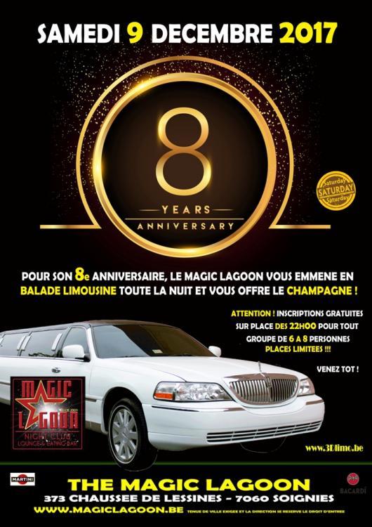 8ème Anniversaire - Limousine et Champagne - 09/12/2017 | The Magic Lagoon