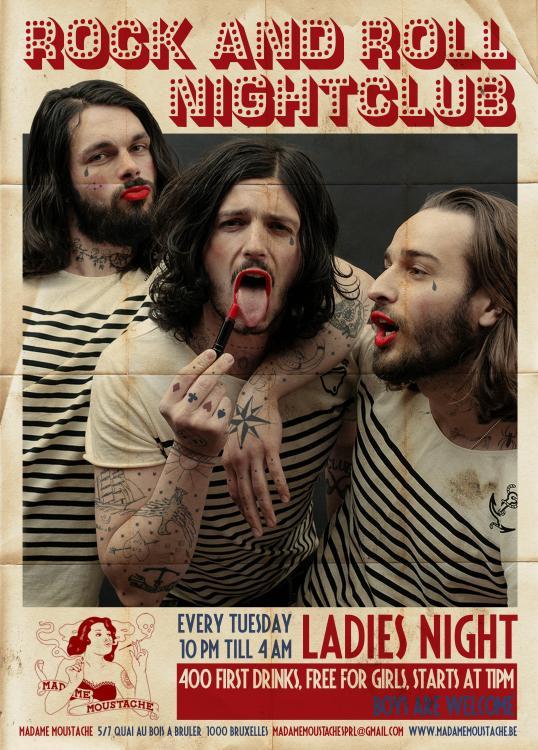 rock'n'roll nightclub / ladies' night - 16/01/2018 | Madame Moustache