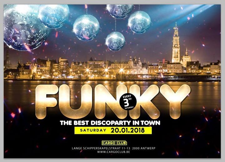 Funky Antwerp, the best discoparty in town - 20/01/2018 | Red&Blue
