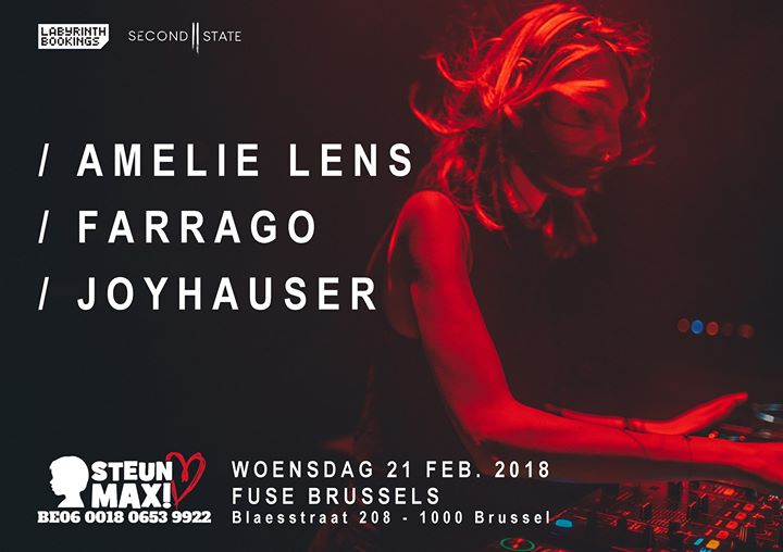 soirée Amelie Lens at Fuse for Steun Max