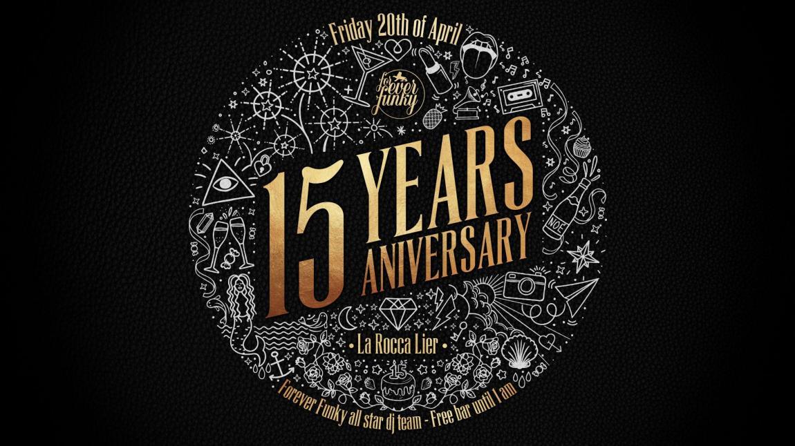 soirée 15 Years Forever Funky Birthday