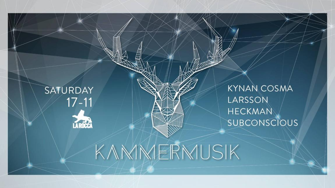 soirée Kammermusik w/ Kynan Cosma, Larsson, Heckman & Subconscious