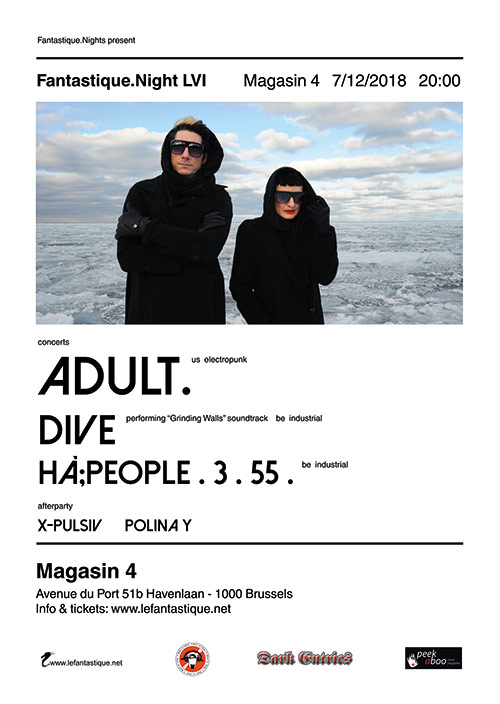Fantastique Night LVI - ADULT., DIVE, Hà;PEOPLE . 3 . 55 . + afterparty - Friday 07/12/2018, MAGASIN4