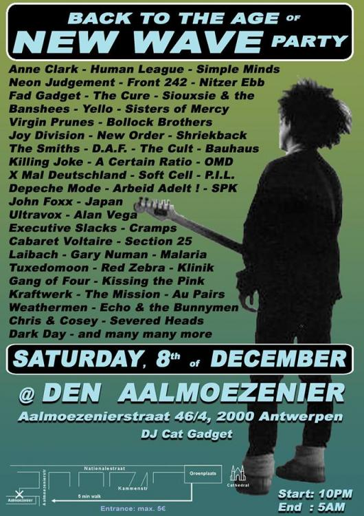 Back to the age of New Wave Party - Saturday 08/12/2018, Den Aalmoezenier