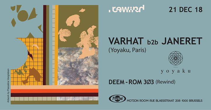 soirée Rewind invites Yoyaku with Varhat & Janeret (MOTION ROOM)